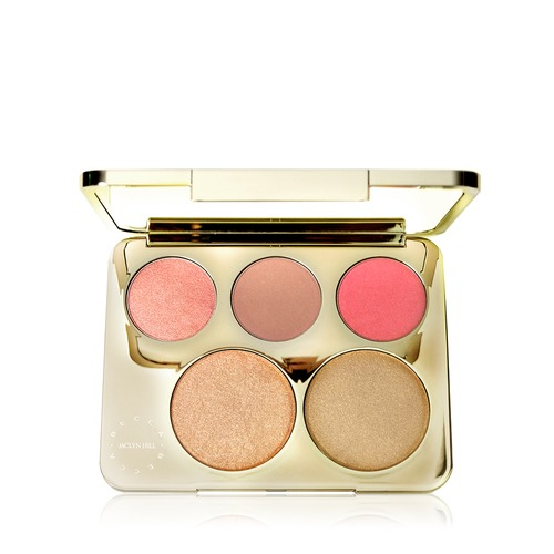 Closeup   champagne collection face palette open
