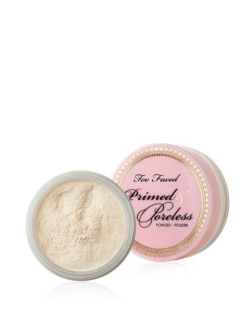 Closeup   primed   poreless priming powder priming powder and finishing veil