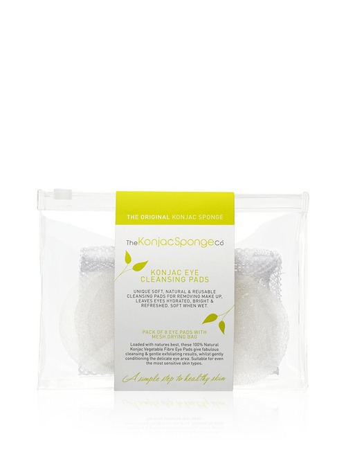 The Konjac Sponge Company Konjac Eye Cleansing Pads Packs Of 8