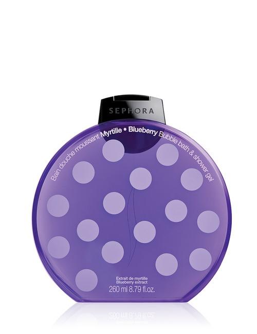 Sephora Collection Bubble Bath Shower Gel Graphic Blueberry