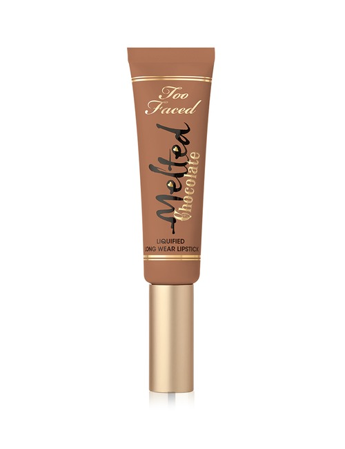 Too Faced Melted Chocolate Lip Liquified Metallic Lipstick Chocolate Honey