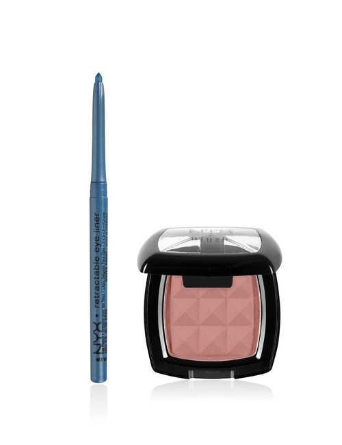 NYX Dusty Blue Blush & Eyeliner Set